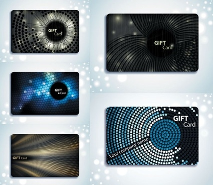 gift card background vector