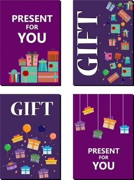 gift card cover sets present boxes text sdecor