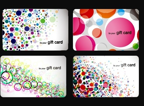 gift card templates colorful circles ornament messy design