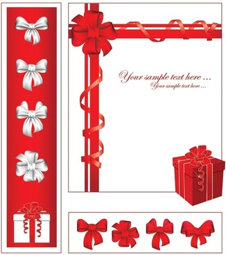 Gift ribbon bow vector