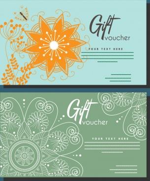 gift voucher set boho style flower decoration