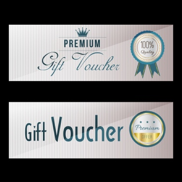 gift voucher template shiny stamp decor modern design