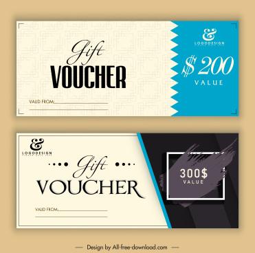 gift voucher templates elegant classic decor