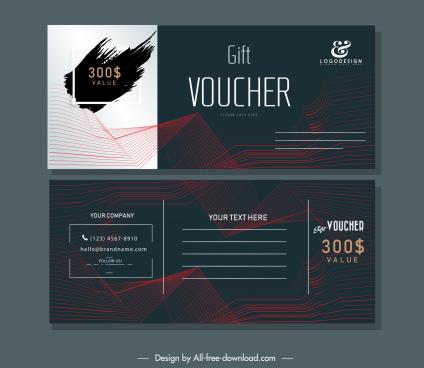 gift voucher templates elegant dark 3d dynamic decor