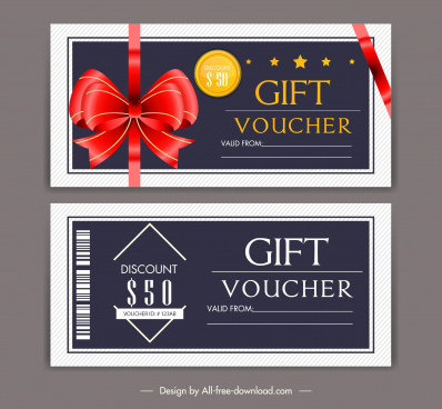 gift voucher templates elegant design knot plain decor