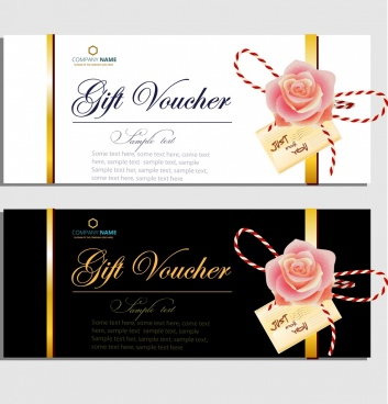gift voucher templates elegant design rose icon decor