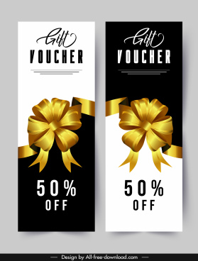 gift voucher templates elegant golden knot black white decor
