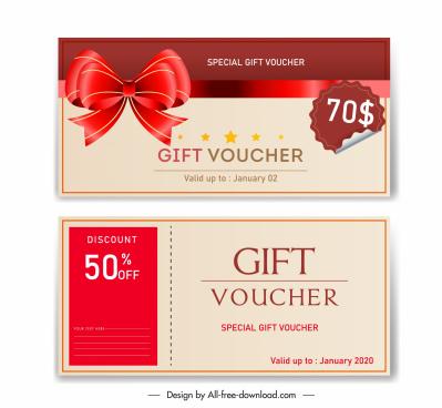 gift voucher templates elegant luxury red knot decor