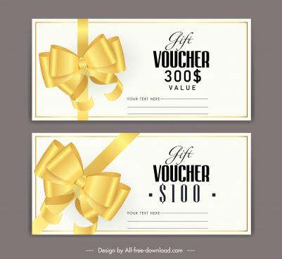 gift voucher templates luxury golden knot decor