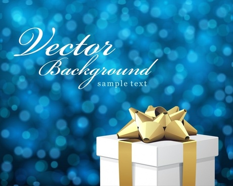 christmas background 3d gift box bokeh design