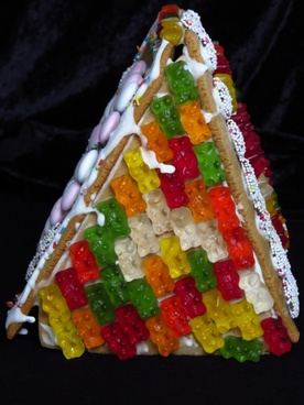 gingerbread house boys christmas time