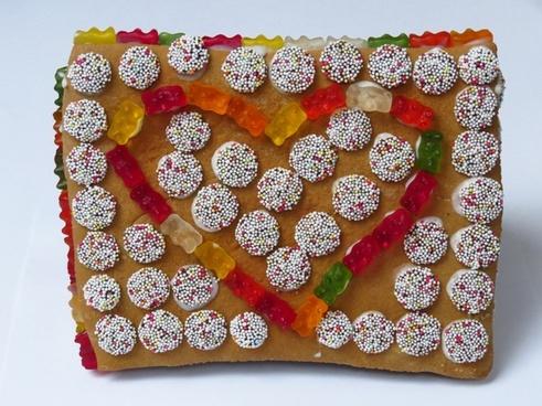 gingerbread house boys christmas time