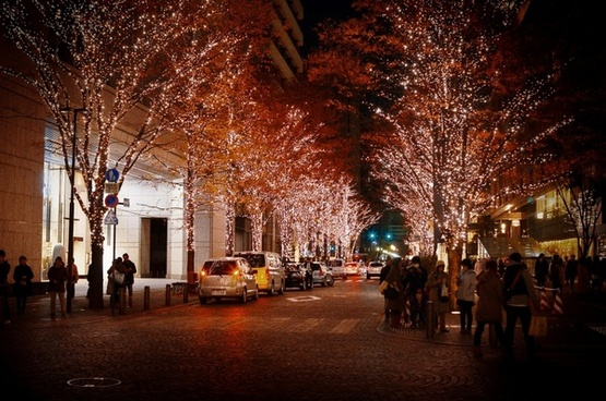 ginza christmas illumination
