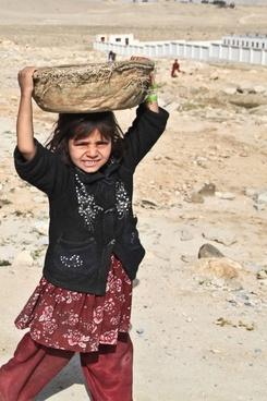 girl afghani person alone