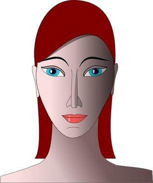 Girl Head clip art