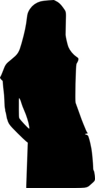 Girl Silhouette clip art