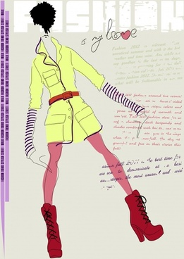 girls fashion illustrator vector