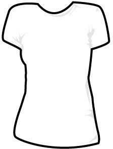 Girls shirt vector