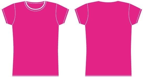 Girls t-shirt template vector