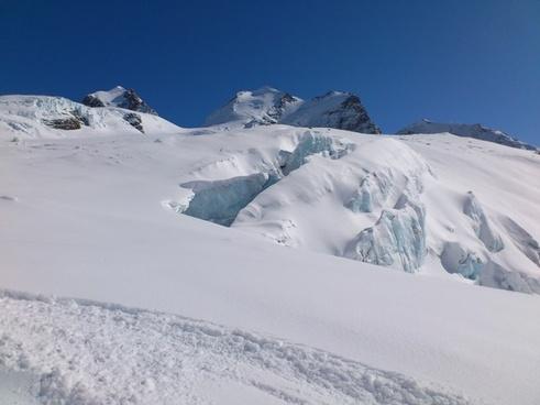 glacier de verra glacier winter