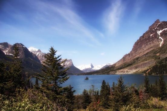 glacier national park montana mountains