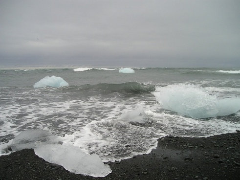 glacier sea iceberg