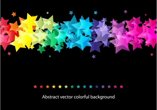 stars background modern colorful blurred design