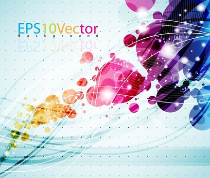 technology background dynamic sparkling colorful circles lines