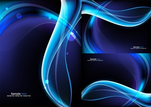 glare blue background vector