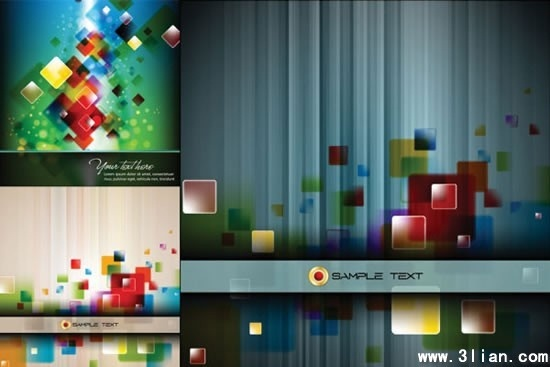 abstract background templates modern colorful squares decor