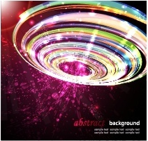 technology background dynamic sparkling colorful circle light effect