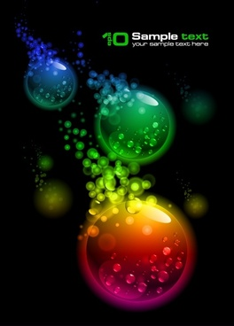decorative background dark colorful circle crystals decor