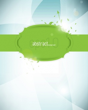 glare green labels vector
