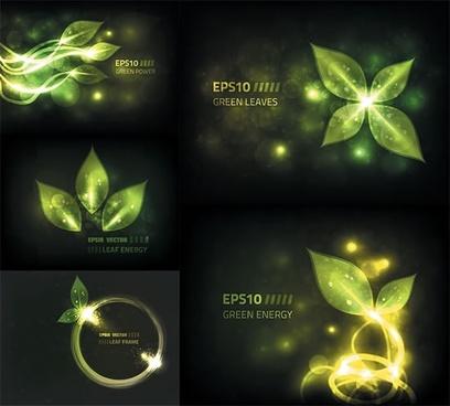 nature backgrounds sparkling light effect leaf decor