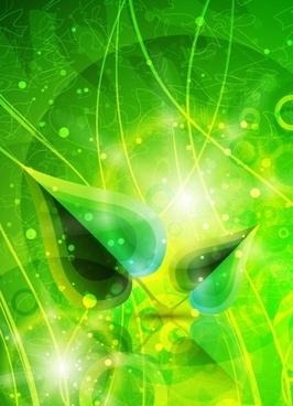glare leaves background vector