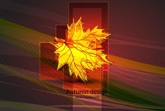 autumn leaf background colored modern design