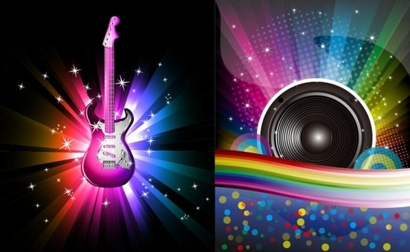 glare musical elements vector