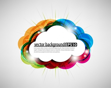 cloud background bright flat colorful decor