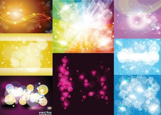 decorative background templates colorful twinkling vivid lights effect