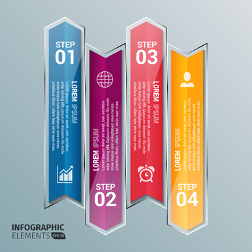 glass arrow infographic