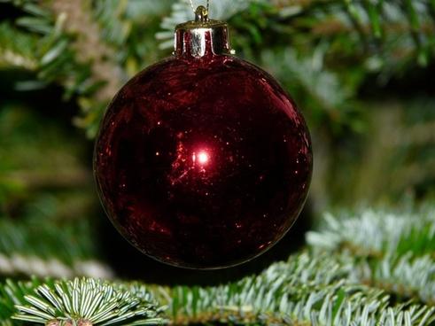 glass ball christmas christmas tree