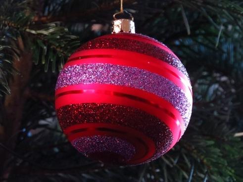 glass ball decorated beautiful