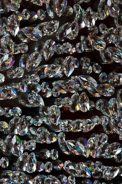 glass crystals on black