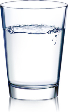 glass cup and water vector