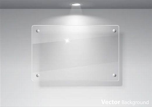 glass exhibition window glass advertising window spotlights vector