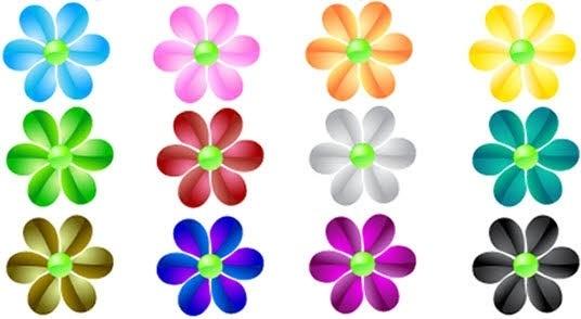 Glass flower vector