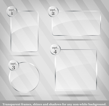 glass frames object vector
