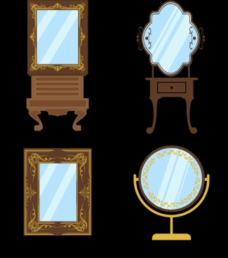 glass mirror icons various classical decoration