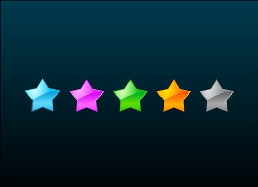 colorful stars vector illustration on dark background