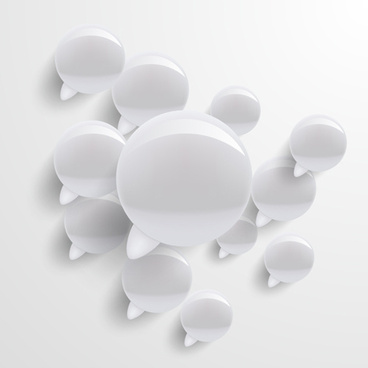 glass texture speech bubbles vector set